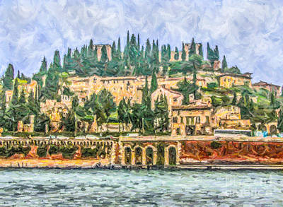 Digital Art - Verona by Liz Leyden