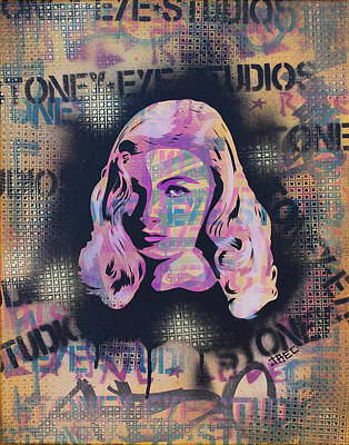 Pop Art Painting - Veronica Lake by Josh Cardinali