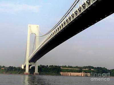 Photograph - Verranzano Bridge by Ed Weidman