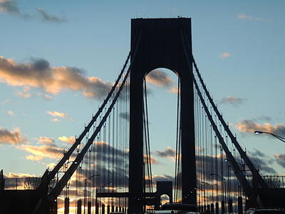 Verrazano Bridge Art Print by Anastasia Konn