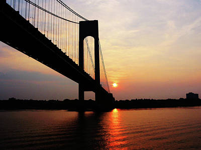 Photograph - Verrazano Bridge At Dawn by Susan Savad