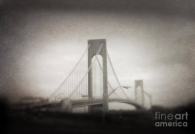Photograph - Verrazano Bridge Ny by Paul Cammarata