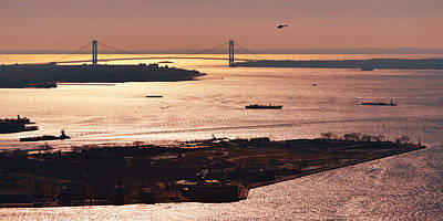 Photograph - Verrazano Bridge by Yue Wang
