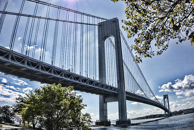 Photograph - Verrazano Narrows Bridge by Terry Cork