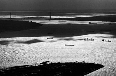 Photograph - Verrazano Narrows From The World Trade Centre by Gary Eason
