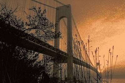 Pop Art Rights Managed Images - Verrazano Sundown Royalty-Free Image by Jeff Watts