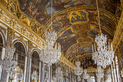 Chateau Photograph - Versailles Ceiling by Brian Jannsen