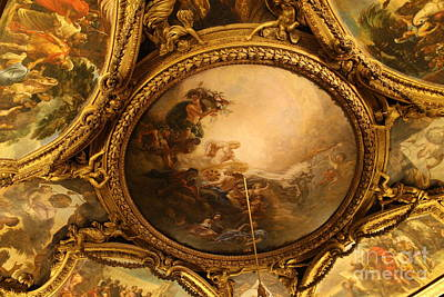 Photograph - Versailles Ceiling Fresco by Mary-Lee Sanders