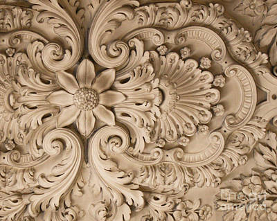 Photograph - Versailles Ceiling In Off White by Mary-Lee Sanders