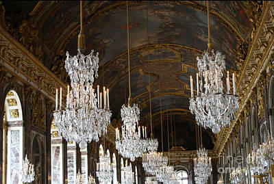 Photograph - Versailles Chandeliers by Mary-Lee Sanders