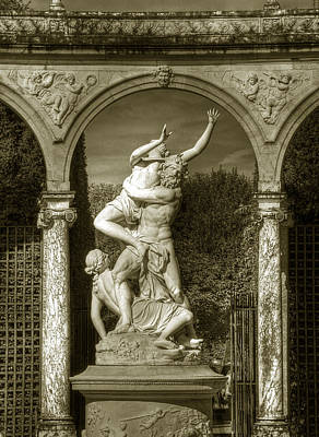 Photograph - Versailles Colonnade And Sculpture by Michael Kirk