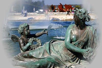 Versailles Fountain Art Print by Jacqueline M Lewis