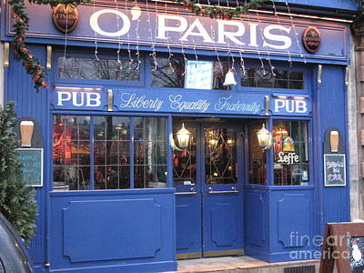 Versailles Photograph - Versailles France Pubs - Versailles France Irish Pub - O' Paris Pub - Versailles Pubs And Cafe Shops by Kathy Fornal