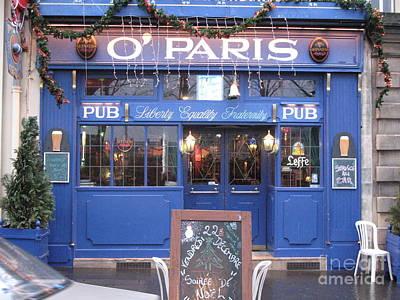 Versailles France Restaurants -  Irish Pub O' Paris  Art Print by Kathy Fornal