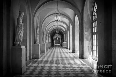 Versailles Photograph - Versailles Hallway by Inge Johnsson