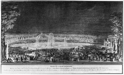 Basin Park Painting - Versailles Illumination by Granger