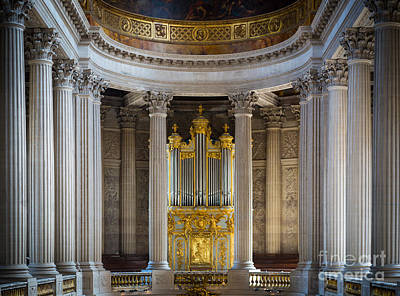 Organ Pipes Photograph - Versailles Organ by Inge Johnsson