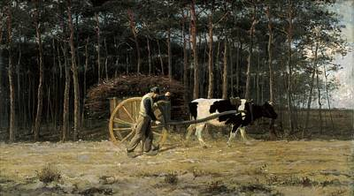 Soleil Couchant Photograph - Verstraete, Th�odore 1850-1907. Yoke by Everett