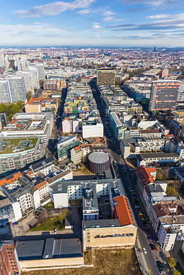 Photograph - Vertical Aerial View Of Berlin by Semmick Photo