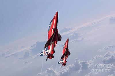 Red Tail Hawk Digital Art - Vertical Arrows by J Biggadike