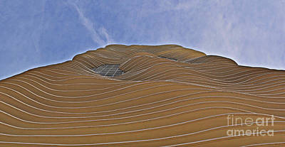 Curvilinear Photograph - Vertical Dune - The Aqua Tower by Mary Machare