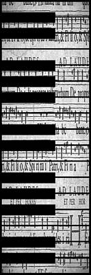 Sheet Music Digital Art - Vertical Keys by Melissa Smith
