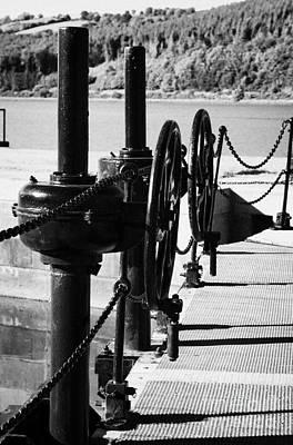 Vertical Newry Ship Canal Lock Gates And Controls At The Newly Refurbished Victoria Lock At Carlingford Lough Art Print by Joe Fox