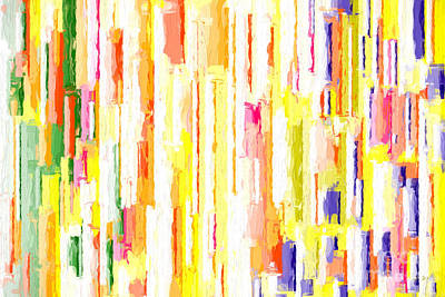 Digital Art - Vertical Rainbow by Ken Frischkorn