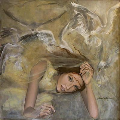 Vertigo Painting - Vertigo by Dorina  Costras