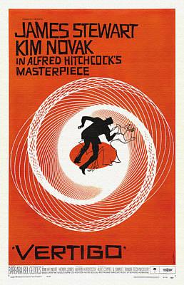 Vertigo Movie Poster - 1958 Art Print