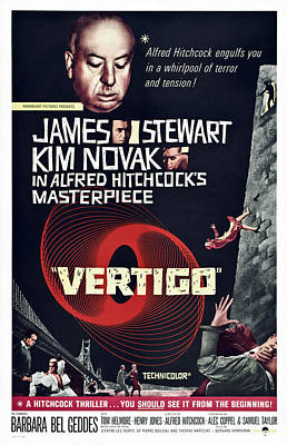 Films By Alfred Hitchcock Photograph - Vertigo, Us Poster Art, From Top Alfred by Everett