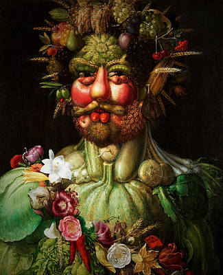Green Beans Mixed Media - Vertumnus by Giuseppe Arcimboldo
