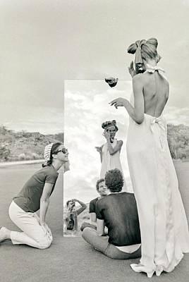 Photograph - Veruschka On A Photo Shoot by Franco Rubartelli
