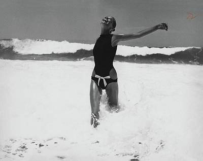 Black And White Photograph - Veruschka Von Lehndorff Wearing A  Rudi Gernreich by Franco Rubartelli