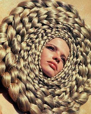 Middle East Photograph - Veruschka Von Lehndorff's Head Surrounded by Franco Rubartelli