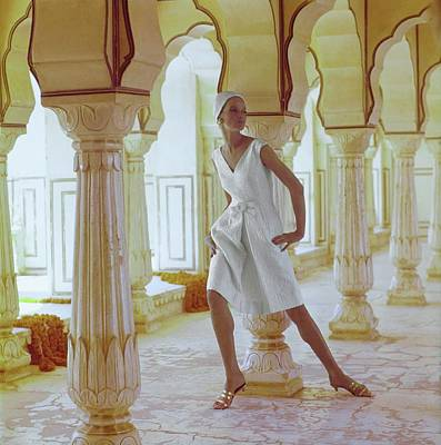 Photograph - Veruschka Wearing A Ben Barrack Dress by Henry Clarke