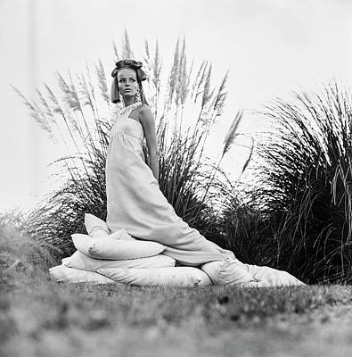 Mauna Kea Photograph - Veruschka Wearing A Castillo Dress by Franco Rubartelli