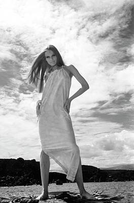 Veruschka Wearing A Dress Art Print by Franco Rubartelli