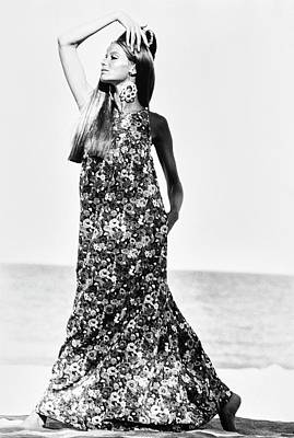 Veruschka Wearing A Kahala Dress Art Print by Franco Rubartelli