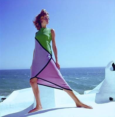 Photograph - Veruschka Wearing A Ken Scott Dress by Henry Clarke