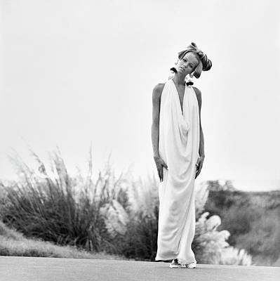 Photograph - Veruschka Wearing A Sarmi Dress by Franco Rubartelli