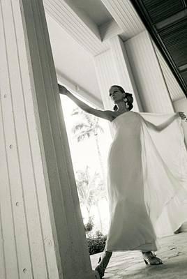 Starr Photograph - Veruschka Wearing A Stern & Stern Dress by Franco Rubartelli