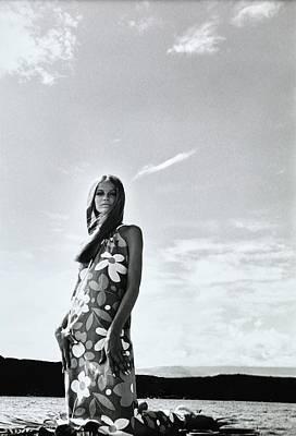 Photograph - Veruschka Wearing A Suri Line Dress by Franco Rubartelli