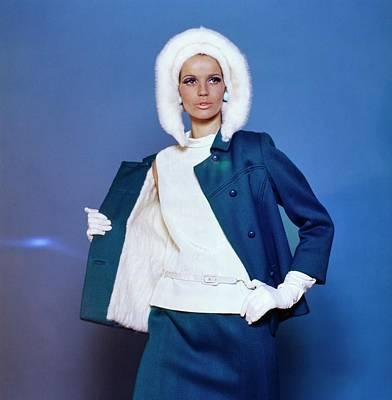 Photograph - Veruschka Wearing David Kidd by Bert Stern