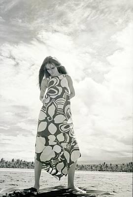 Photograph - Verushcka Wearing A Naili Dress by Franco Rubartelli