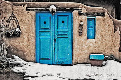 Photograph - Very Blue Door by Charles Muhle