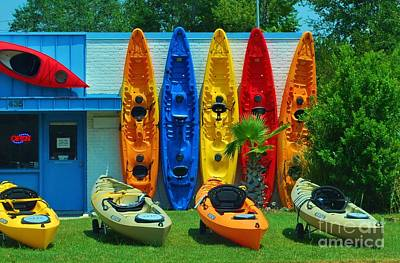 Photograph - Very Colorful Kayaks by Bob Sample