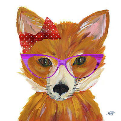 Very Painting - Very Foxy by Julie Derice