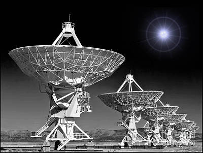 City Lights - Very Large Array by Jerry Fornarotto