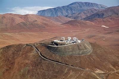 Chilean Photograph - Very Large Telescope (vlt) by J.l. Dauvergne & G. Hudepohl (atacamaphoto.com)/eso